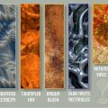 Thumbnails of 5 (out of) 10 FREE textures!