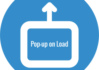 PopUp on Load widget icon